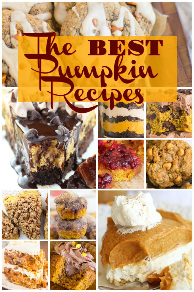 Favorite pumpkin recipes round-up the goldlininggirl.com pin 1
