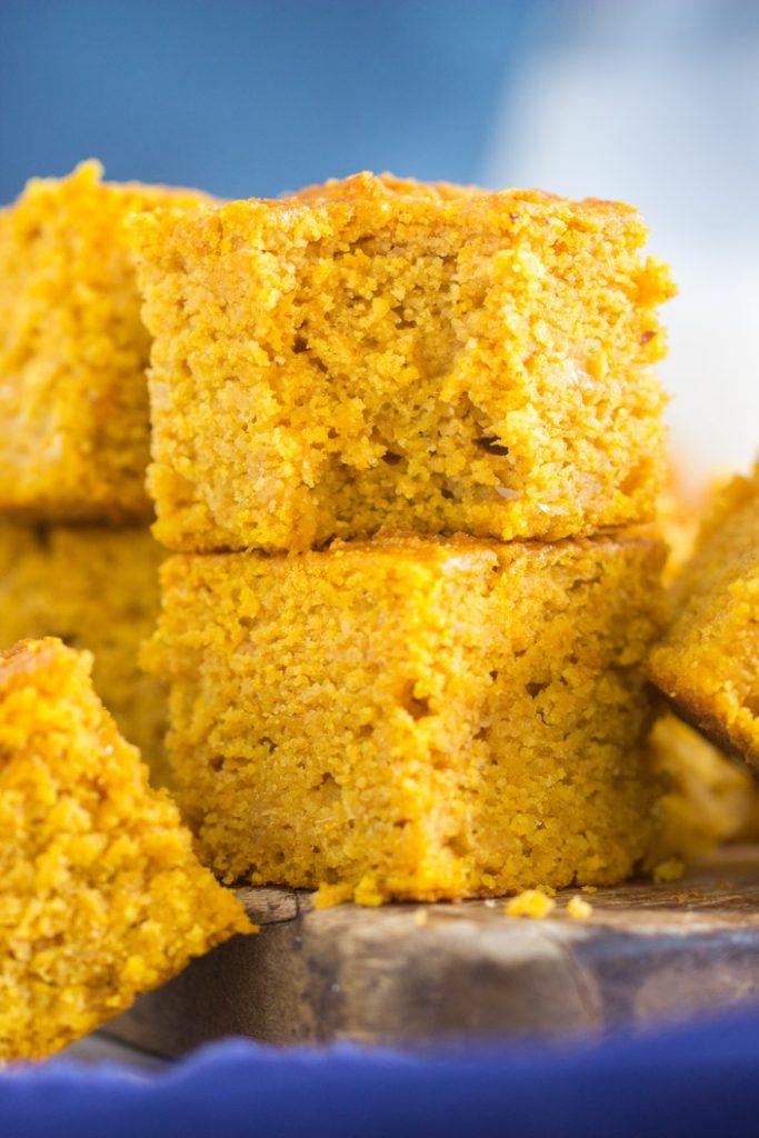 Honey Brown Butter Pumpkin Cornbread recipe image thegoldlininggirl.com 11