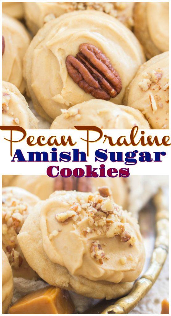 Pecan Praline Amish Sugar Cookies recipe image thegoldlininggirl.com pin 1