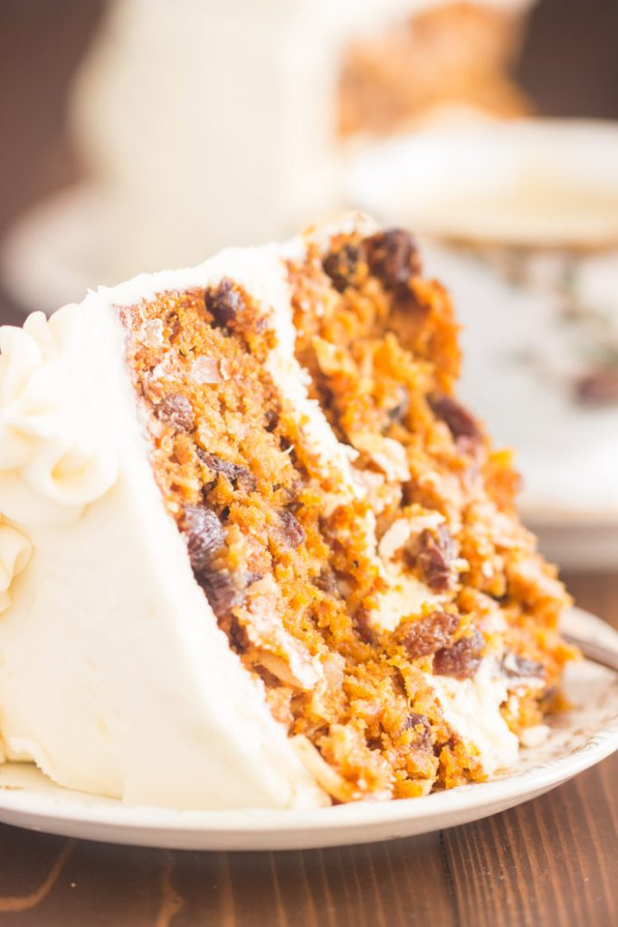 Pumpkin Carrot Cake with Cream Cheese Frosting recipe image thegoldlininggirl.com 10