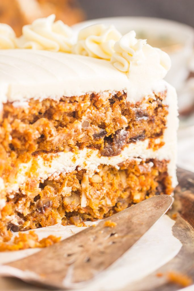 Pumpkin Carrot Cake with Cream Cheese Frosting recipe image thegoldlininggirl.com 12