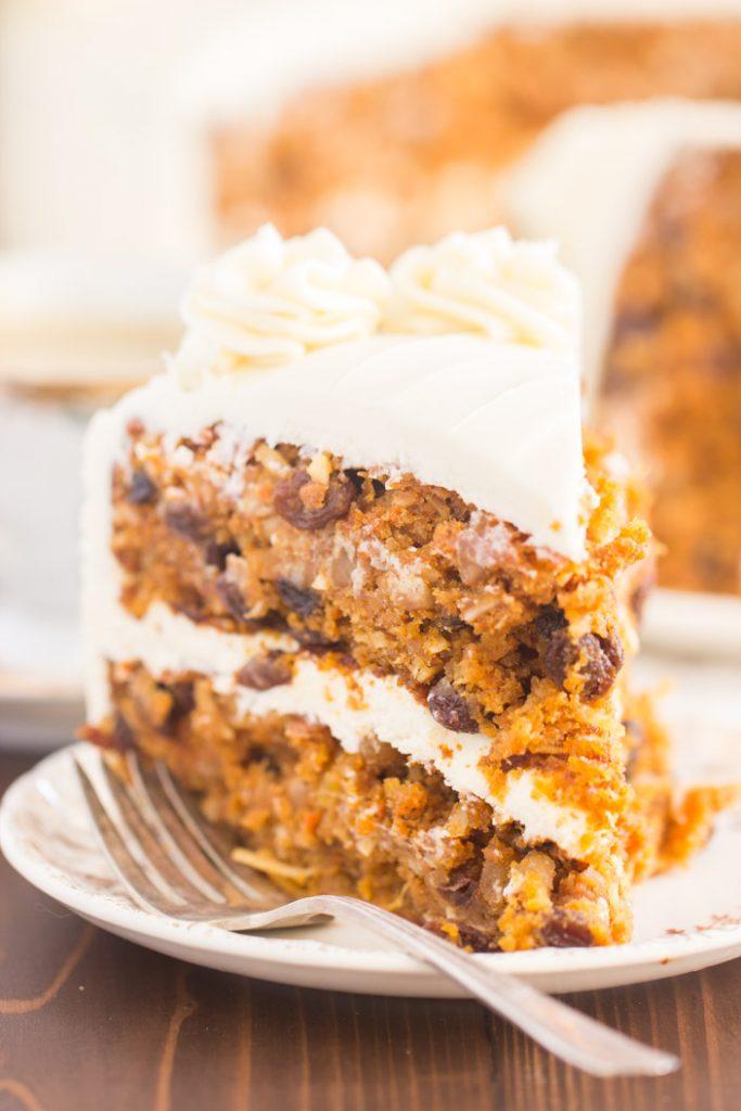Pumpkin Carrot Cake with Cream Cheese Frosting recipe image thegoldlininggirl.com 4