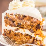 Pumpkin Carrot Cake with Cream Cheese Frosting recipe image thegoldlininggirl.com 9