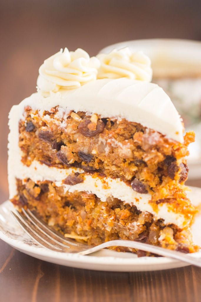 Pumpkin Carrot Cake with Cream Cheese Frosting recipe image thegoldlininggirl.com 9