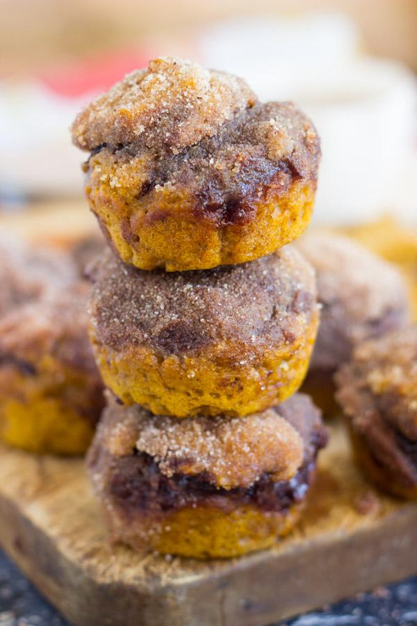 Snickerdoodle Pumpkin Nutella Muffins (27)