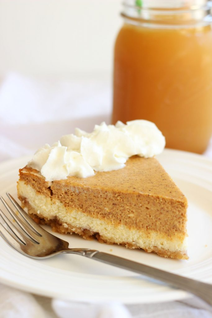 double layer pumpkin cheesecake spice with shortbread pecan crust 1 (16)
