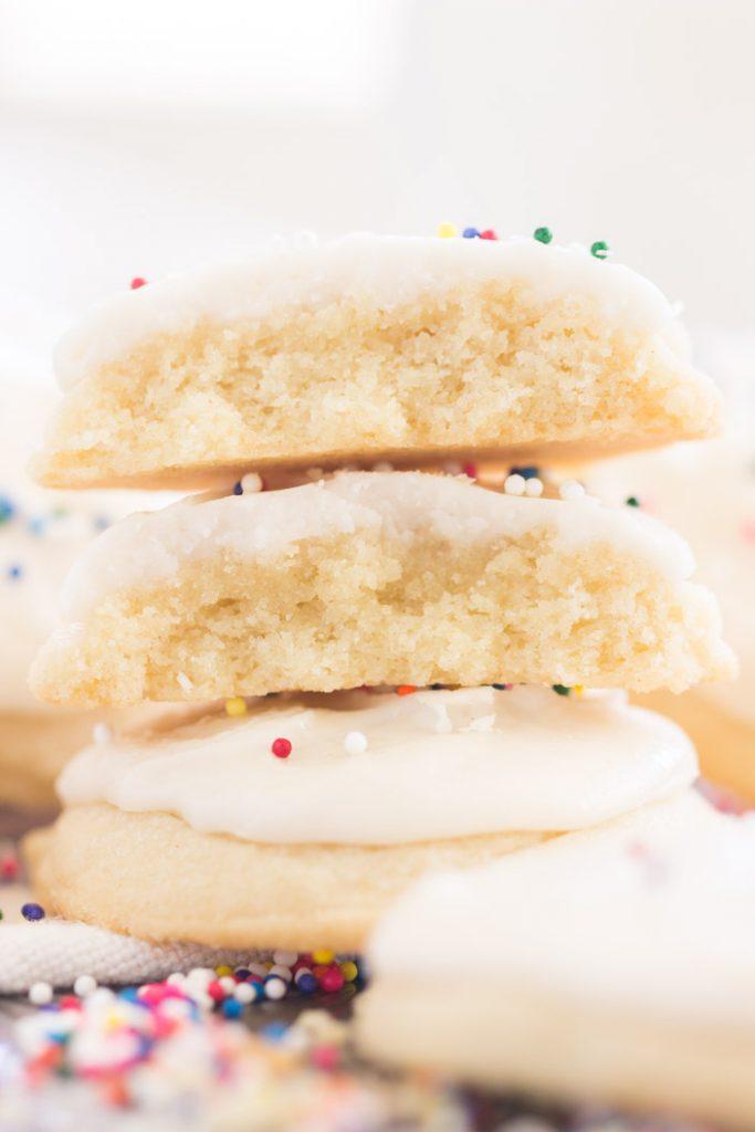 Iced Vanilla Amish Sugar Cookies recipe image thegoldlininggirl.com 10