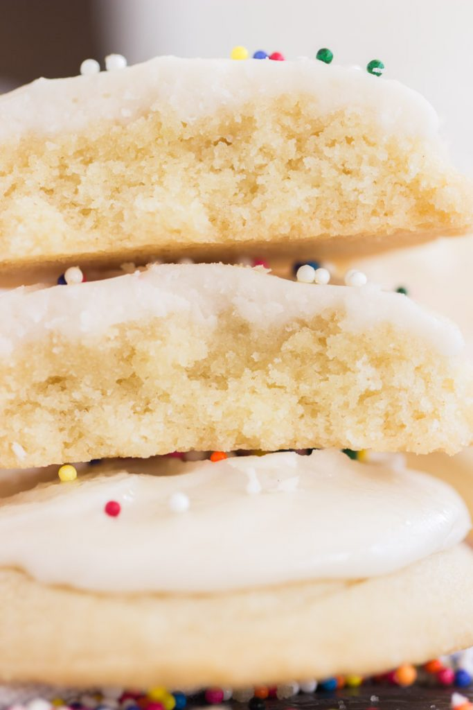 Iced Vanilla Amish Sugar Cookies recipe image thegoldlininggirl.com 15