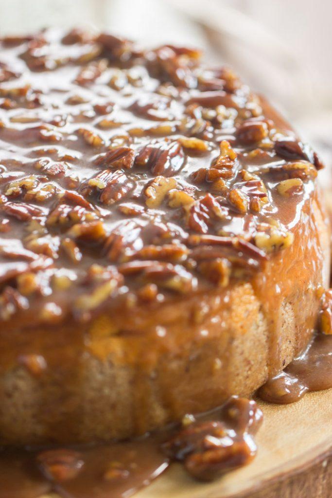 Pecan Pie Pumpkin Cheesecake recipe image thegoldlininggirl.com 1