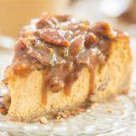 Pecan Pie Pumpkin Cheesecake recipe image thegoldlininggirl.com 600x900 2 copy