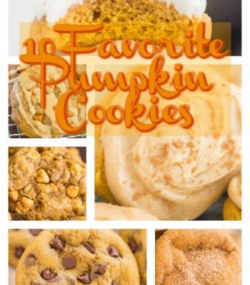 10 Favorite Pumpkin Cookie recipes collage image thegoldlininggirl.com 600x900 2