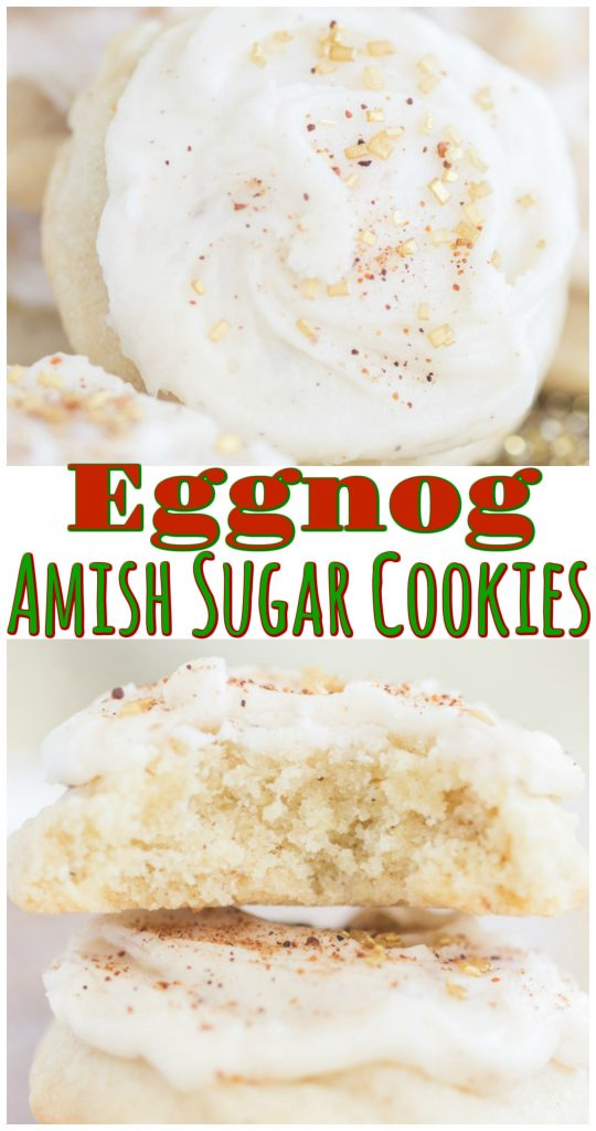 Eggnog Amish Sugar Cookies recipe image thegoldlininggirl.com long pin 1