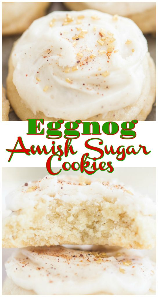 Eggnog Amish Sugar Cookies recipe image thegoldlininggirl.com long pin 2