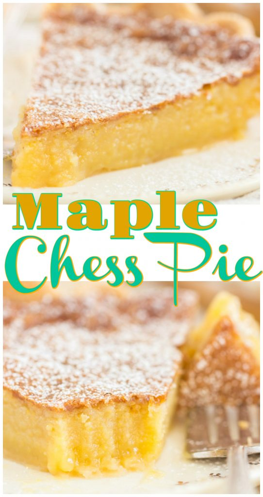 Maple Chess Pie recipe image thegoldlininggirl.com