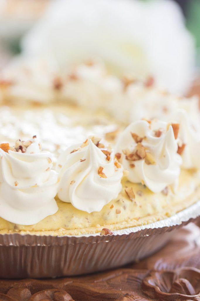 No Bake Pecan Cream Pie recipe image thegoldlininggirl.com 5