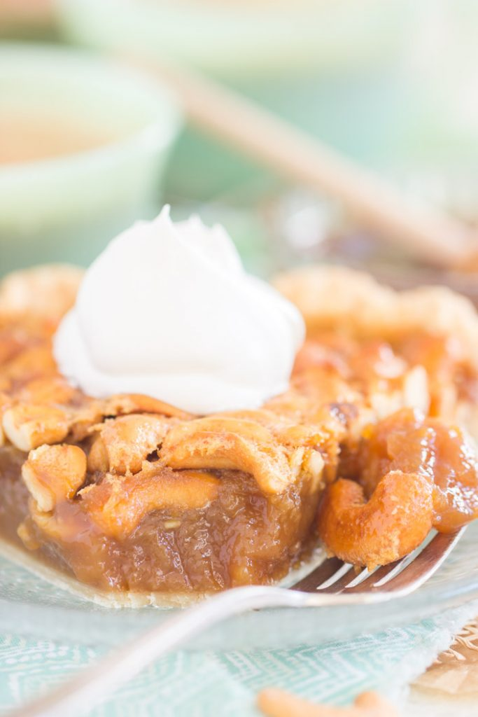 Salted Caramel Cashew Pie recipe image thegoldlininggirl.com 18