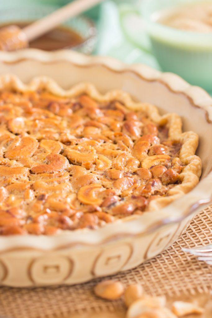 Salted Caramel Cashew Pie recipe image thegoldlininggirl.com 2