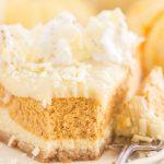 Eggnog Pumpkin Cheesecake