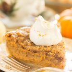 Eggnog Pumpkin Pie with Gingersnap Streusel