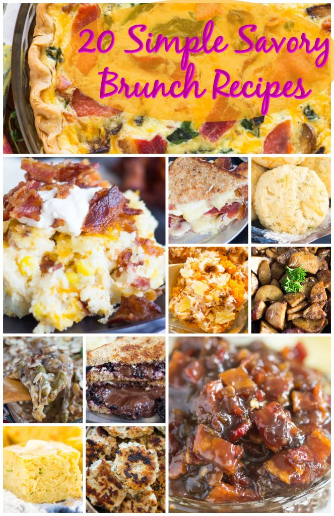 20 Simple Savory Brunch Recipes!