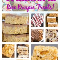 Rice Krispie Treats roundup recipe image thegoldlininggirl.com