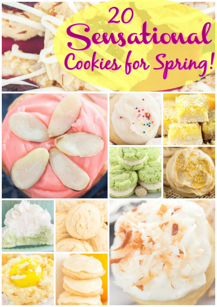 Sugar Cookies for spring recipe image thegoldlininggirl.com