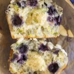 Almond Blueberry Zucchini Muffins