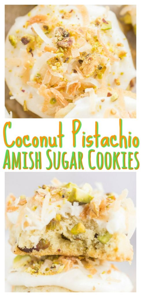 Pistachio Coconut Amish Sugar Cookies