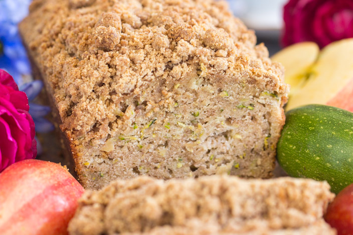 streusel apple zucchini bread • the gold lining girl