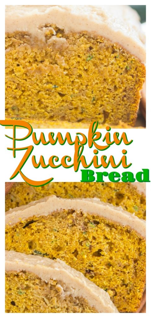 Pumpkin Zucchini Bread with Brown Butter Icing