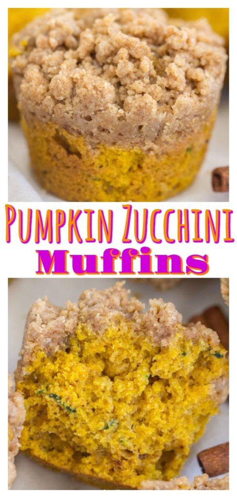 Streusel Pumpkin Zucchini Muffins