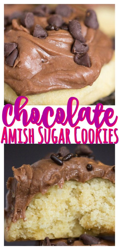 Amish Sugar Cookies with Chocolate Frosting