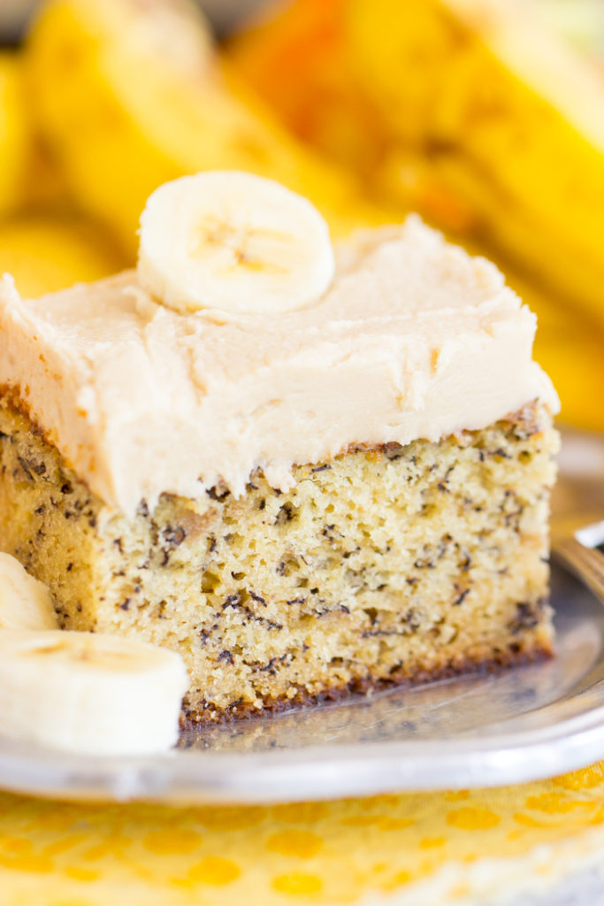 Banana Cake Brown Butter Icing