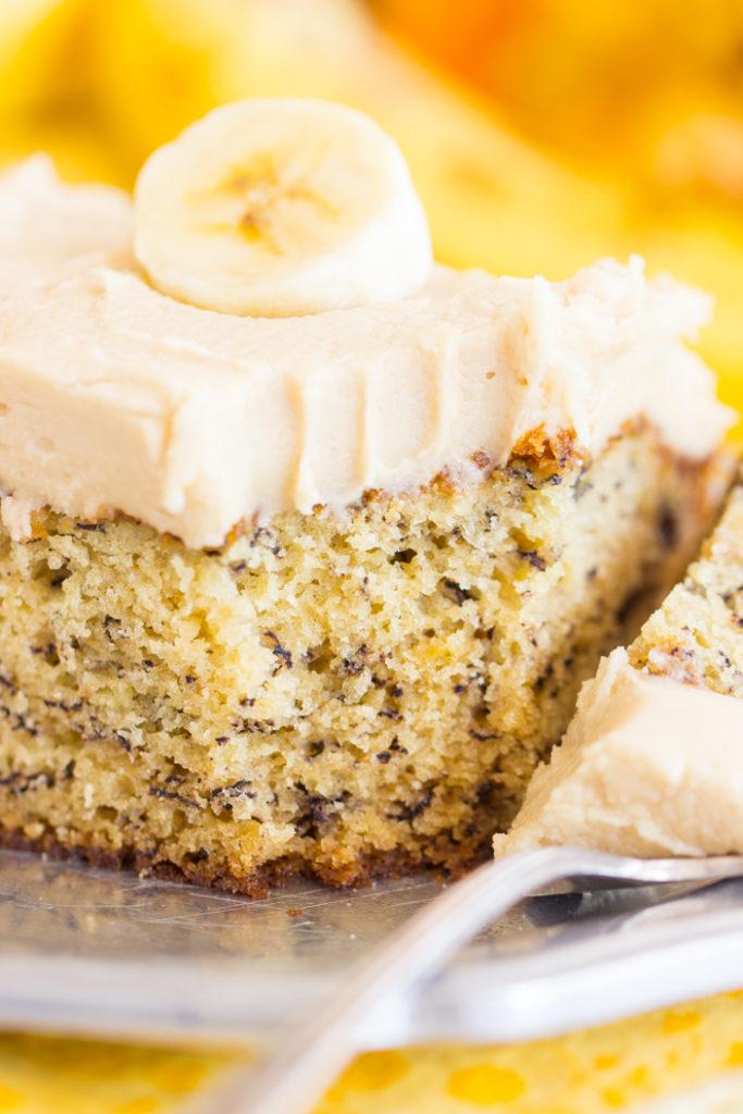 Banana Cake Brown Butter Icing
