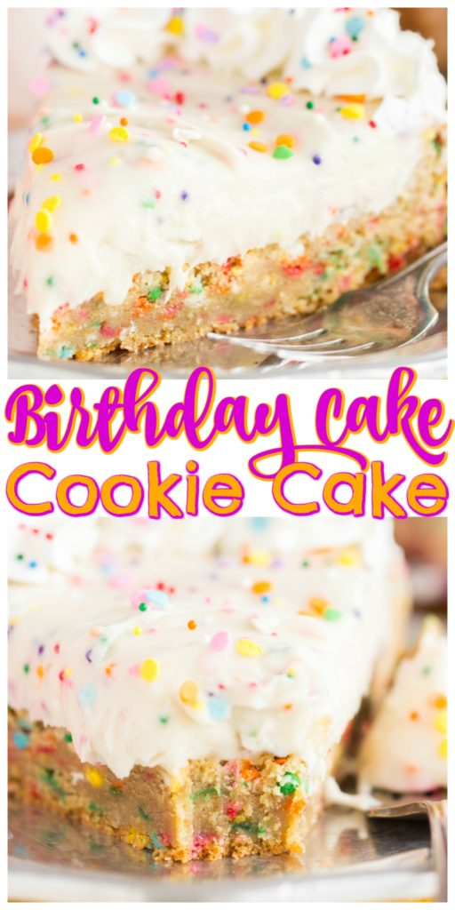 Birthday Cake Funfetti Sugar Cookie Cake recipe