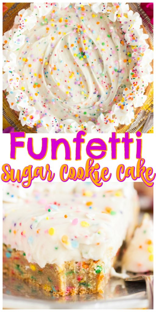 Birthday Cake Funfetti Sugar Cookie Cake