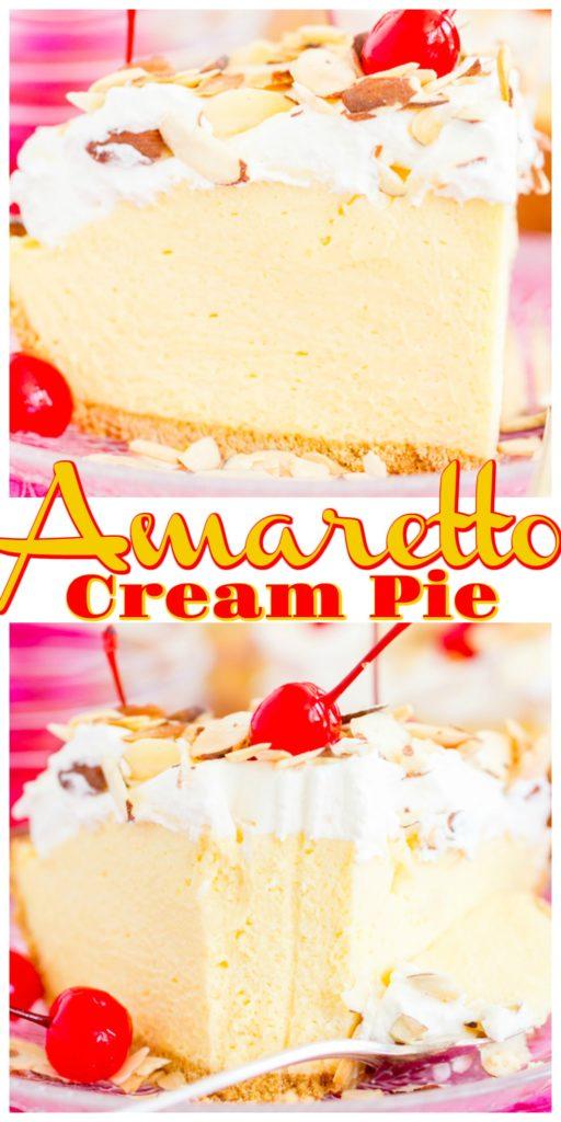 Amaretto Almond Cream Pie recipe