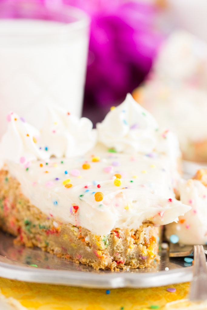 Birthday Cake Funfetti Cookie Cake