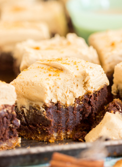 Biscoff Brownies with Cookie Butter Frosting