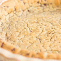 Chocolate Chip Cookie Pie Crust