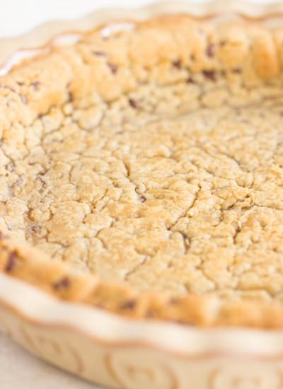 Chocolate Chip Cookie Pie Crust