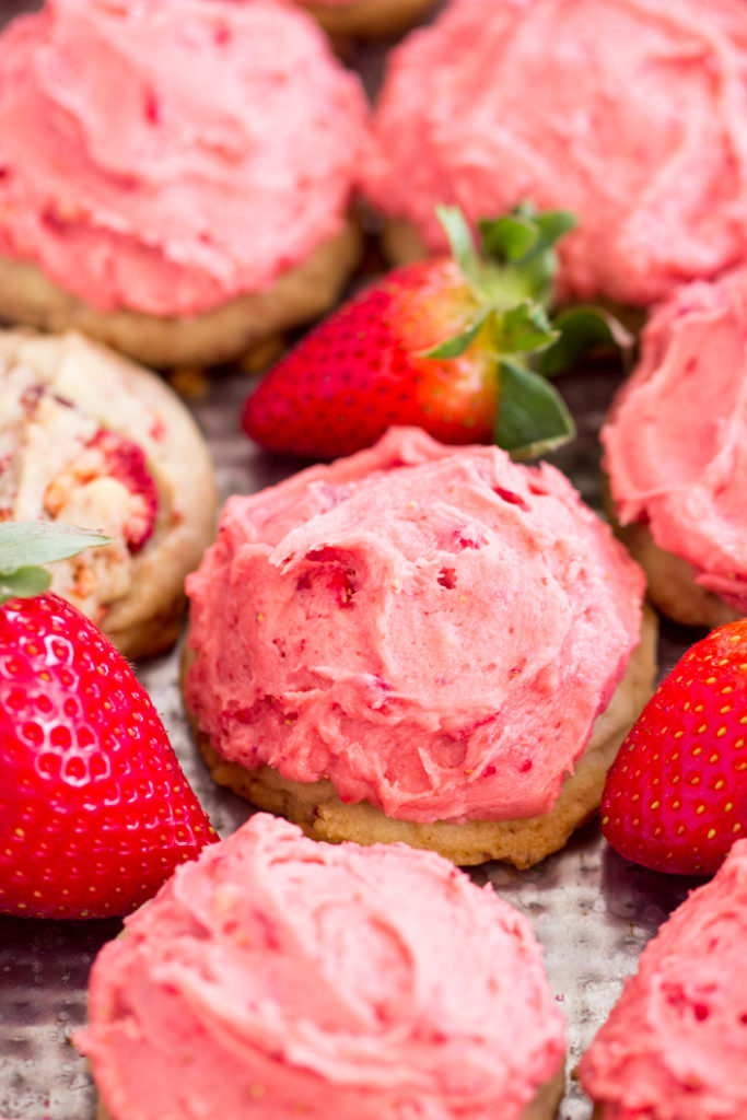 Strawberry Amish Sugar Cookies