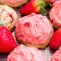 Strawberry Amish Sugar Cookies