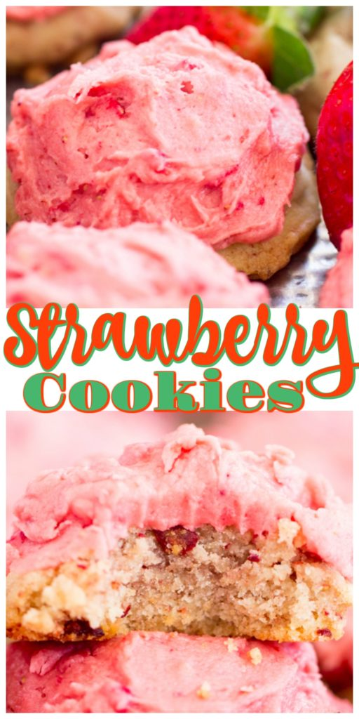 Strawberry Cookies with Strawberry Frosting