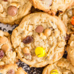 Trail Mix Peanut Butter Oatmeal Cookies recipe