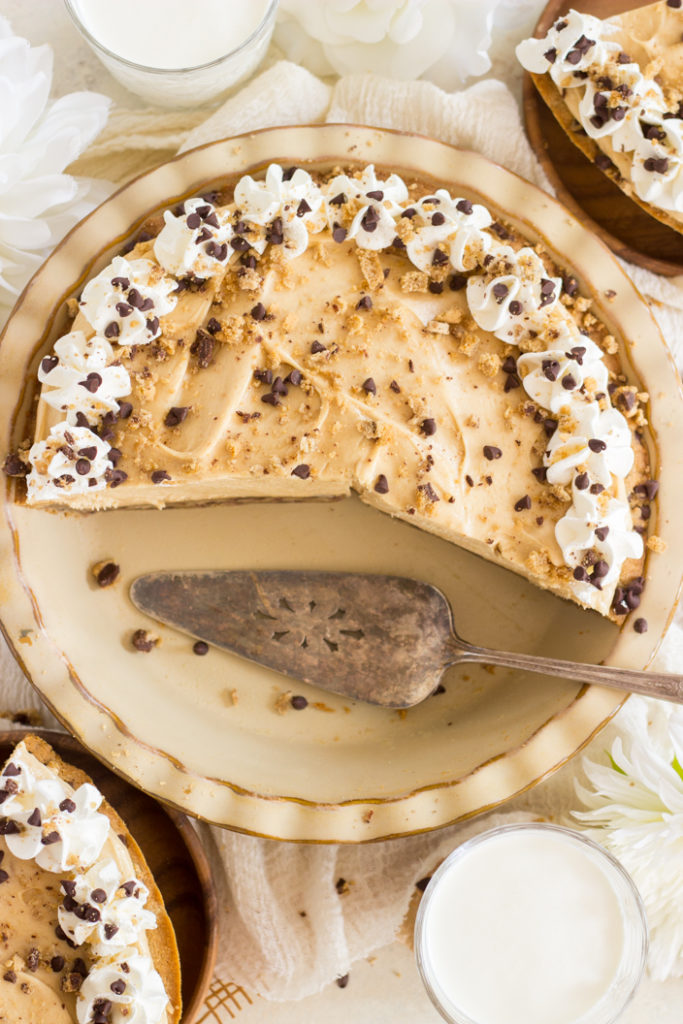 Chocolate Chip Cookie Crust Peanut Butter Pie recipe