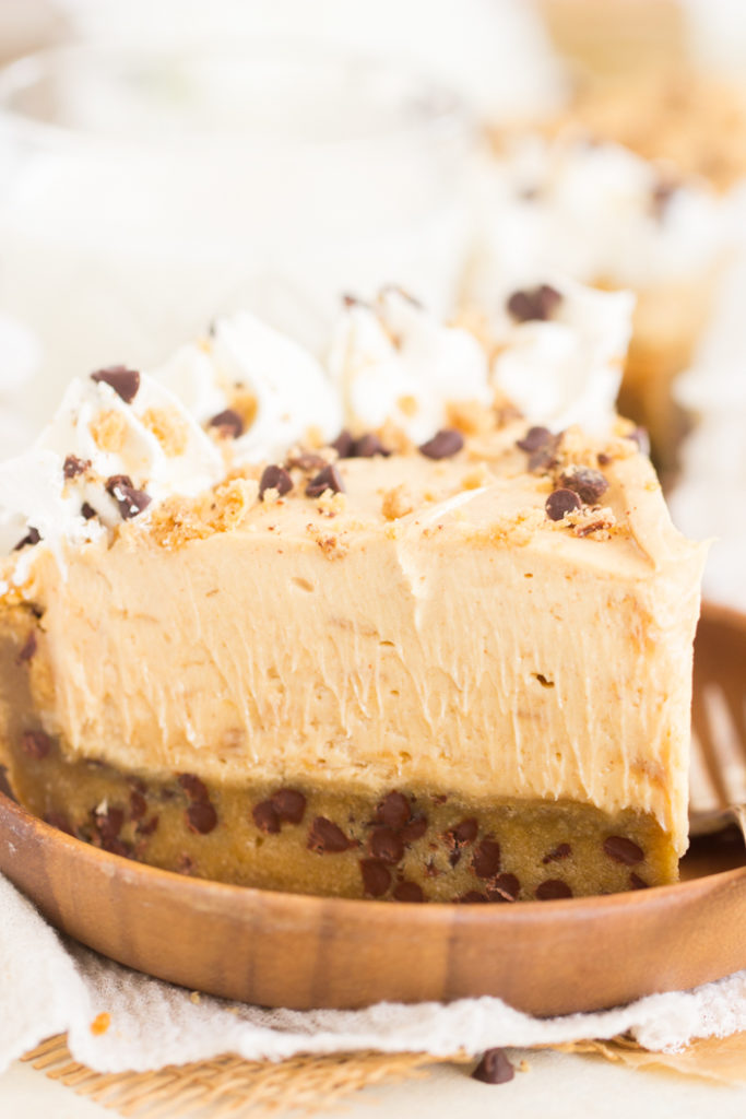 Chocolate Chip Cookie Crust Peanut Butter Pie recipe
