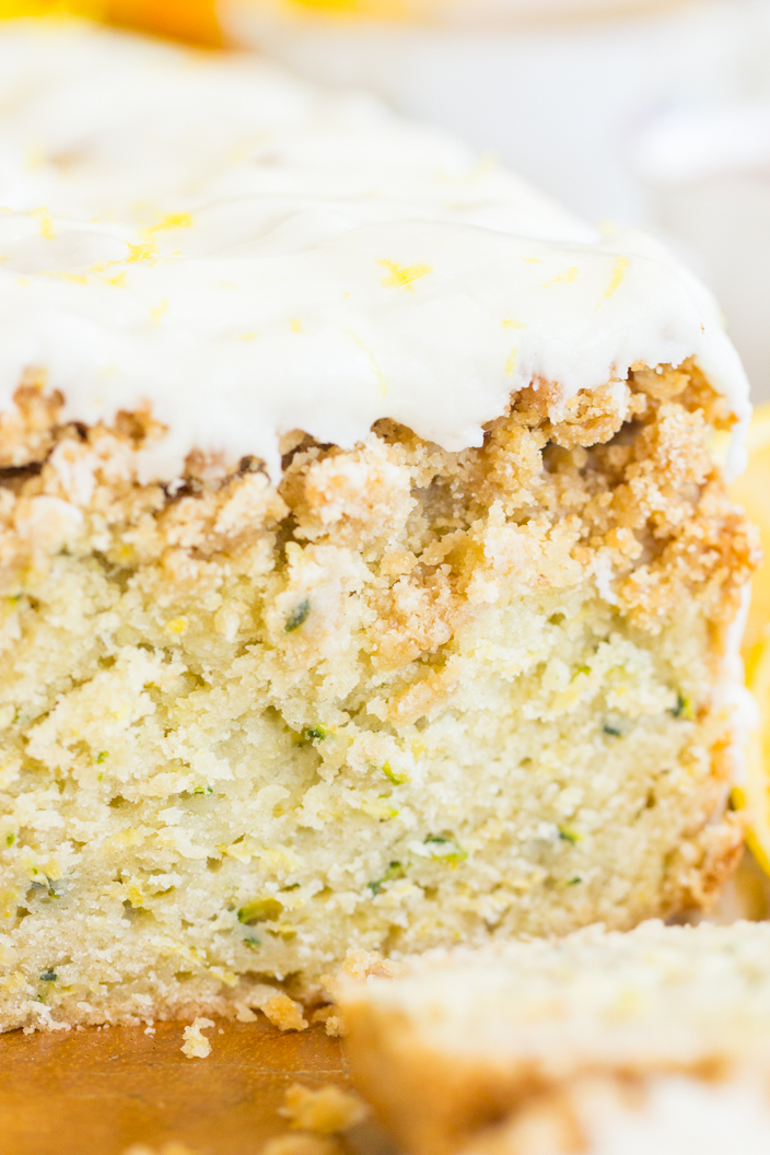 lemon zucchini bread with crumb topping • the gold lining girl