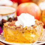 Upside Down Pumpkin Apple Pie