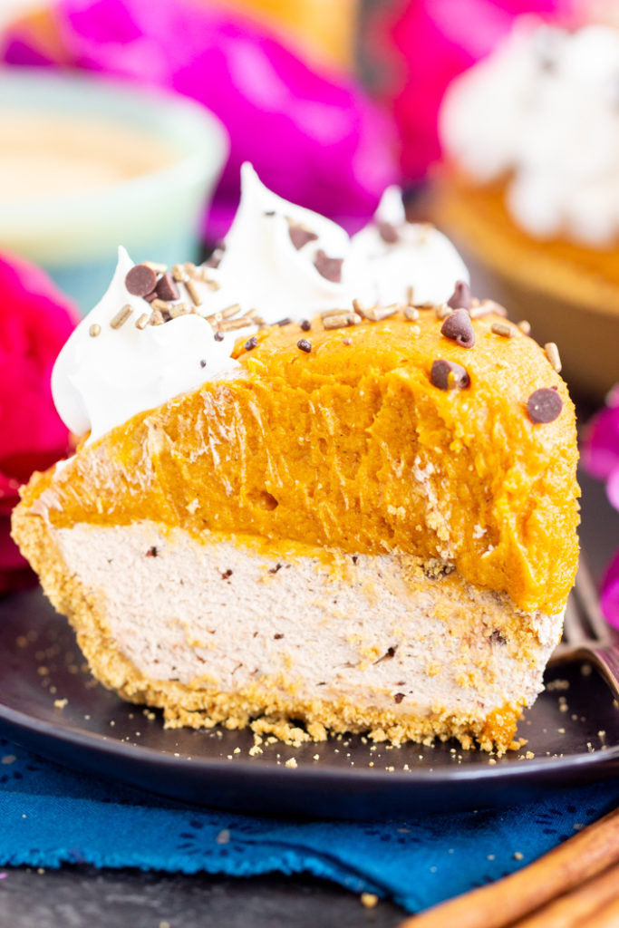 Double Layer No Bake Pumpkin Spice Latte Cheesecake recipe